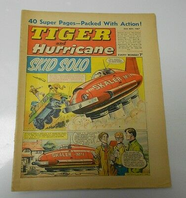 1967 TIGER AND HURRICANE UK Weekly May 20 SKID SOLO Johnny Cougar FN+