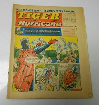 1967 TIGER AND HURRICANE UK Weekly July 1 BLACK ARCHER Johnny Cougar FN