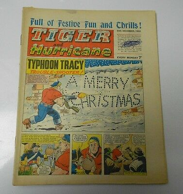 1966 TIGER AND HURRICANE UK Weekly Dec 24 TYPHOON TRACY Johnny Cougar FN+