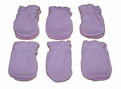 6 Pairs Newborn Baby/infant Anti-scratch Cotton Mittens Gloves---Pink