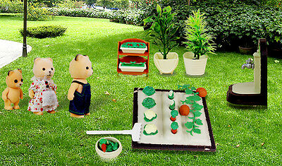 Spring Gardening Play Set Tools with Accessories For Sylvanian Families Dolls