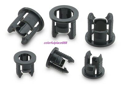 100pcs, 50 x 3mm + 50 x 5mm Black Plastic LED Clip Holder Case Cup Mounting New