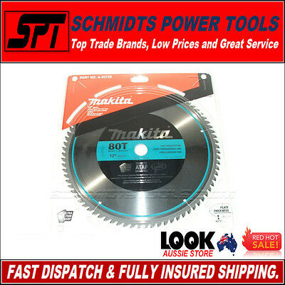 """MAKITA 80T 305mm 12"""" POLISHED MITER SAW BLADE A-93728 80 TOOTH DROP SAW BLADE"""