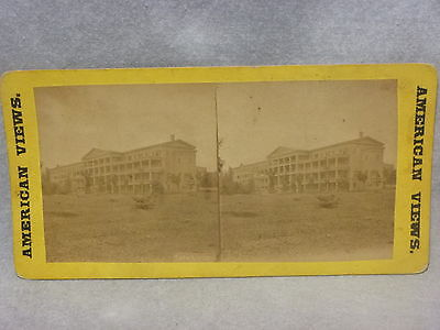 Fort William Henry Hotel Stereoview Photo Lake George NY (1st hotel) RARE