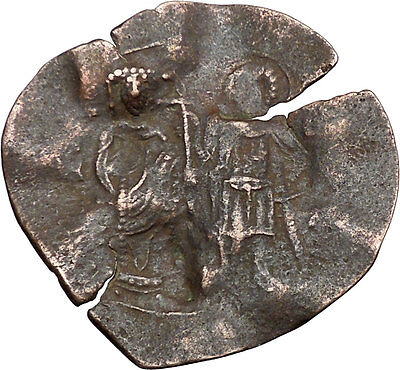 Manuel I , Comnenus 1143AD Medieval Byzantine Coin St. Theodore CHRIST  i38855