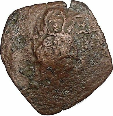 Authentic Ancient Medieval Byzantine Trachy Coin circa 1100-1300 AD i38870