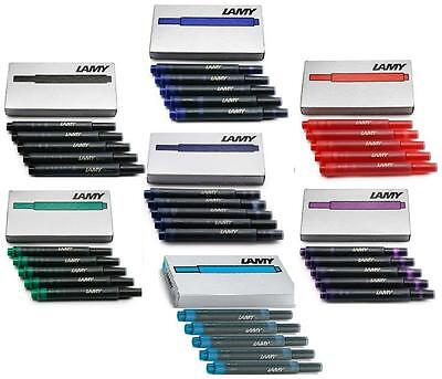 Lamy Fountain Pen Ink Cartridges T10 Black Blue Red Green Violet Turquoise