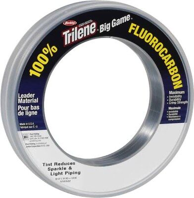 BERKLEY BIG GAME FLUOROCARBON CLEAR - LEADER SEA -  All Sizes 20-80 LBS