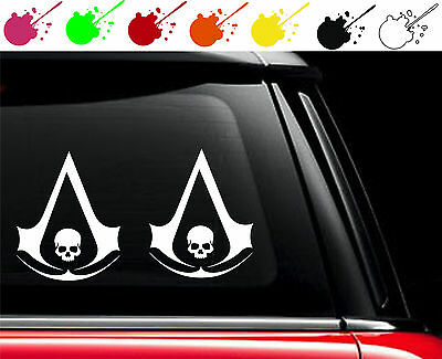 2x Assassins Creed 4 IV Black Flag game Vinyl Car Truck Decal Stickers Set of 2