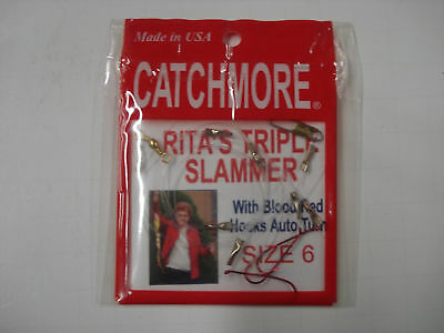 Perch Rig, Size 6, Rita's Triple Slammer, Best Seller, Tangle Free, #PRRTS-6BR