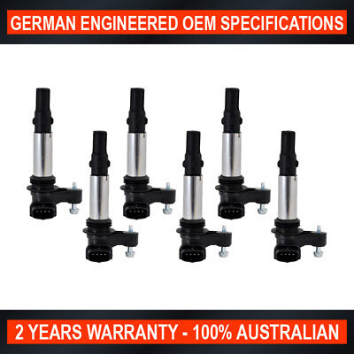 6 x Ignition Coil Holden Commodore VZ V6 Rodeo RA Caprice WL Statesman Adventra