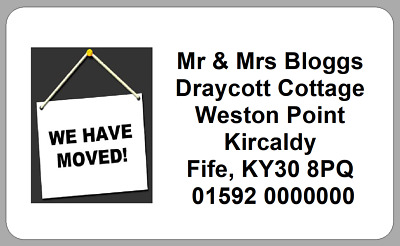 New Address House Home Stickers We Have Moved To Labels Personalised B
