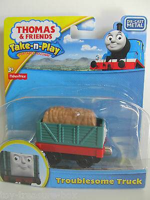"Thomas & Friends Take-n-Play - Die-Cast Metal Vehicle Green ""TROUBLESOME TRUCK"""