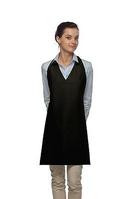 Daystar Aprons 1 Style 300 Two pocket v neck tuxedo apron ~ Made in USA