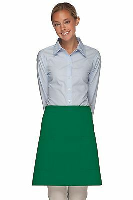 Daystar Aprons 1 Style 115 Two patch pocket half bistro apron ~ Made in USA