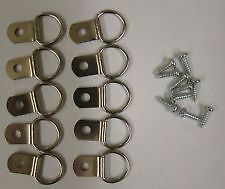 Picture Frame D Rings + Screws Picture Framing Frame Hanging FREE UK P&P