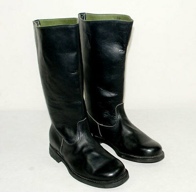 Wwii German Em Leather Combat Boots In Sizes-45471