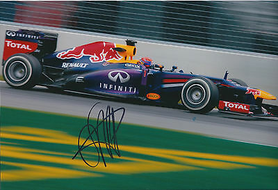 Sebastian Vettel SIGNED AUTOGRAPH World Champion 12x8 Photo AFTAL COA RARE F1