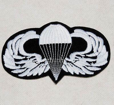 U.s.army Usaf Parachutist Jump Wings Patch Black And White -32416