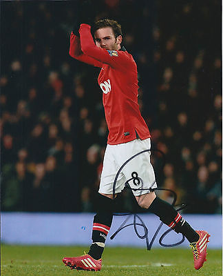 Juan MATA Signed Autograph 10x8 Photo AFTAL COA Man Utd Genuine RARE