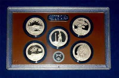 2013 S PROOF Quarter Set- FIVE Coins-No Box/COA-Gem Proof - IN STOCK