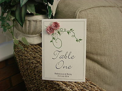 Wedding Table Number - Rose