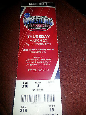 2014 NCAA Division 1 Wrestling Championships - Ticket Stubs - Different Days