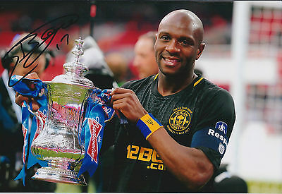 Emmerson BOYCE SIGNED Autograph 12x8 Photo AFTAL COA WIGAN Athletic FA Cup WIN