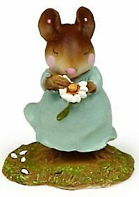 LOVES ME by Wee Forest Folk, WFF# M-233, TEAL, Retired 2004