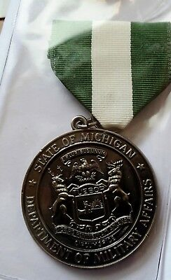 Michigan Dept Of Military Affairs State Ng Medal