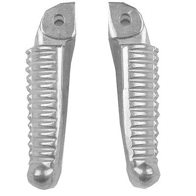 Silver Front Footrest Footpegs For DUCATI 848 1098 1198 2008-2013 2009 10 11 12