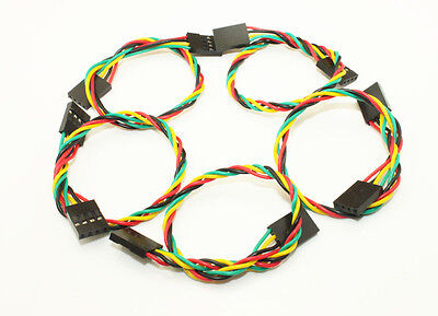 5pcs New 20cm 4pin Jumper Wire Cables 2.54mm Dupont Line F-F For Arduino Free