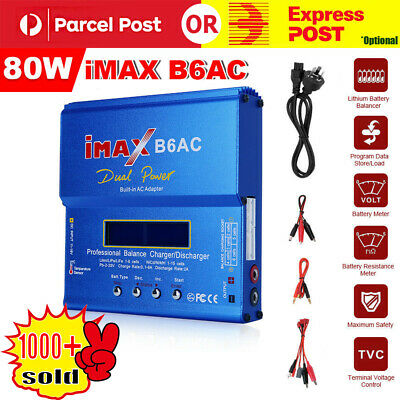 iMax Digital RC Lipo Lithium NiMh Battery Balance Charger Discharger B6AC 80w