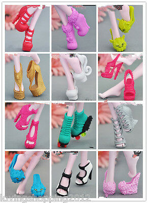 60 pair Shoe For Original Monster High Doll Abbey Catrine Draculaura Skelita N60