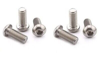 Pack of 4 A2 Stainless COLOURED BRASS Harley Davidson Bar Clamp Bolts Screws