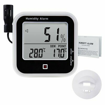 Multifunctional Digital Thermo-Hygrometer Thermometer Humidity Dew Point Meter