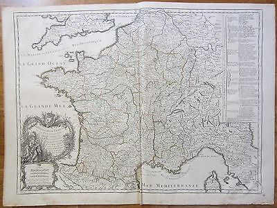 Sanson: Large Detailed Map of France - 1742
