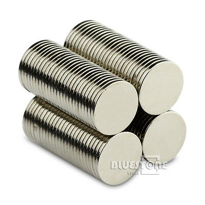 100pcs 10mm x 1mm N50 Strong Small Mini Disc Round Rare Earth Neodymium Magnets