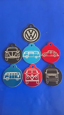 VW Volkswagen Camper Beetle Pet Dog ID Tag with Engraving