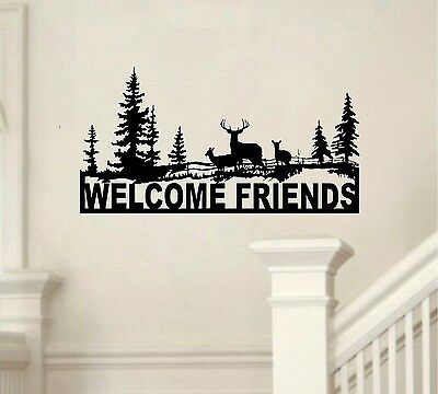 cool wall stickers home office wall. Welcome Deer Scene Vinyl Decal Sticker Home Office Wall Art Buck Hunt Camo Cool Stickers N