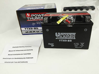 Bateria Power Thunder YTX9-BS sin mantenimiento