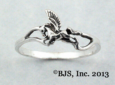 Sterling Silver Pegasus Ring, Pegasus Jewelry, Your Size, Made in USA, New