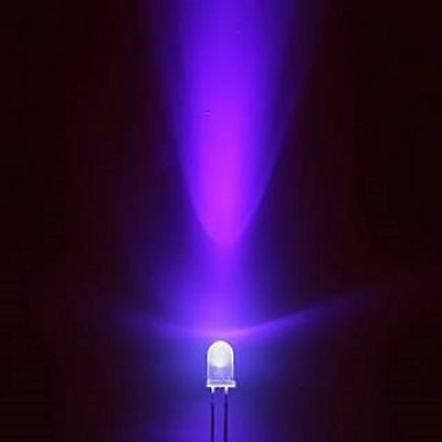 Super Bright  3mm or 5mm Ultra Bright UV Ultra Violet Purple LED Light Lamp