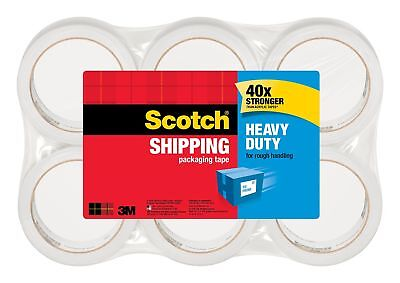 3M 3500 Scotch - 6 Rolls Heavy Duty Shipping Packing Tape 20x Stronger