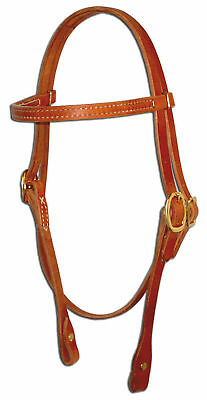 Harness leather brow band bridle headstall western screw ends custom cowboy H103