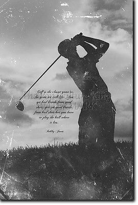 Motivational Golf Poster - Inspirational Quote Motivation Photo Print Gift
