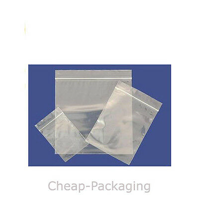 Grip Seal Self Seal Clear Resealable Polythene Plastic Bags ALL SIZES & QUANTITY