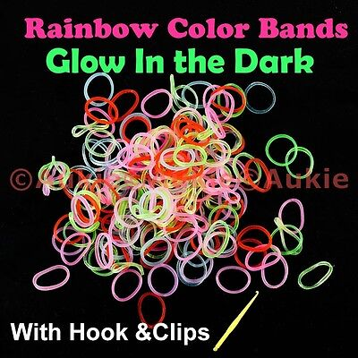Bulk Sale - Color/White Dots/Glow DIY Loom Bands-FREE Post in Aus
