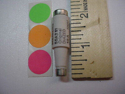 1 NEW Original Diazed 5SA2 5 Bottle Fuse 500V 10A 5SA251, SIEMENS, FAST SHIP