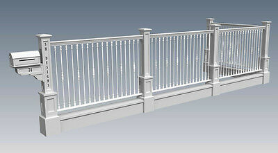 OLD STYLE FENCE POST AND PANEL V01 - Building Plans 2D & 3D - BUILD & SAVE $$$